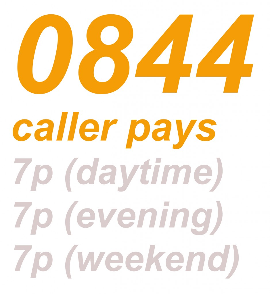0844 numbers