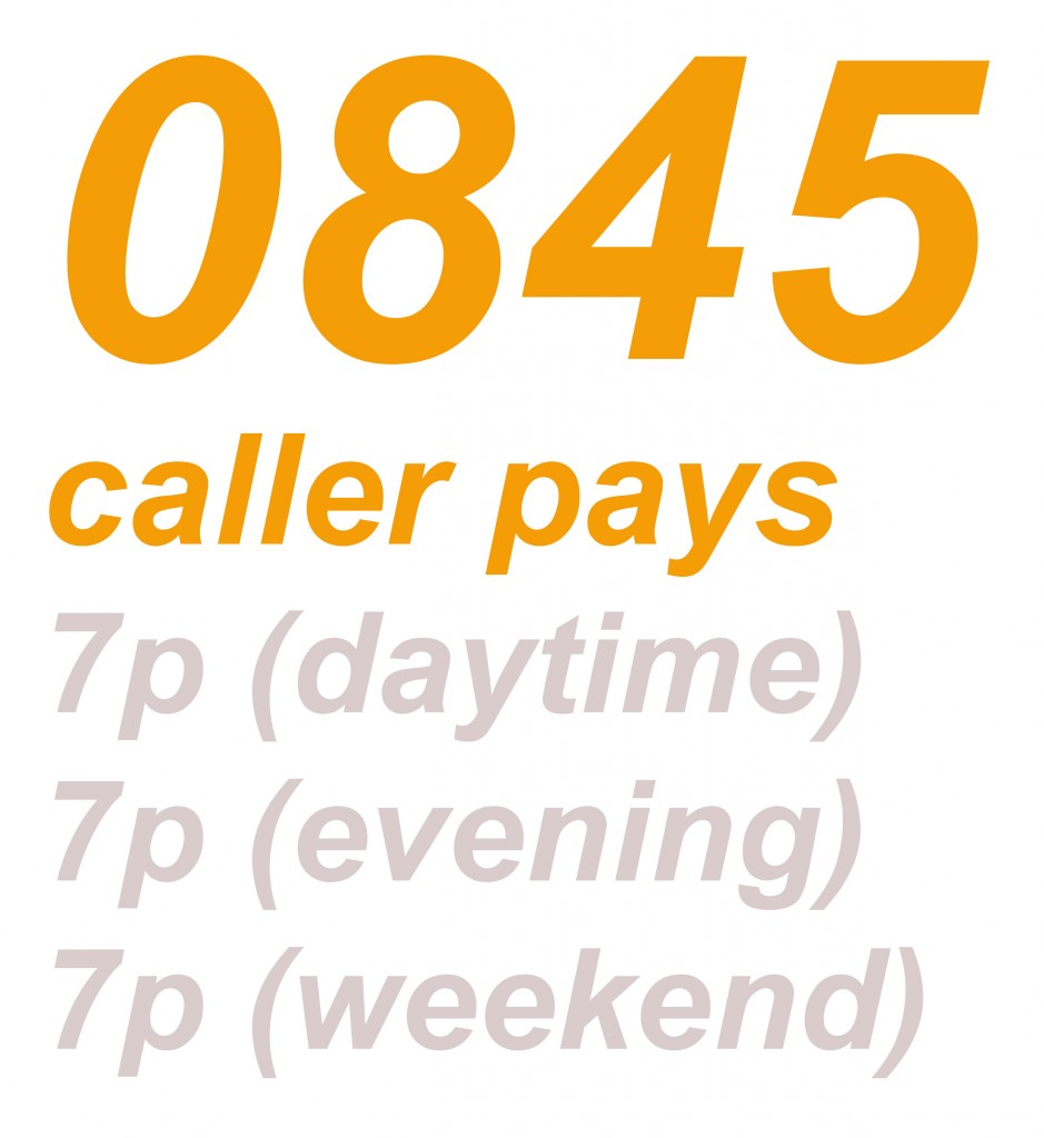 0845 numbers
